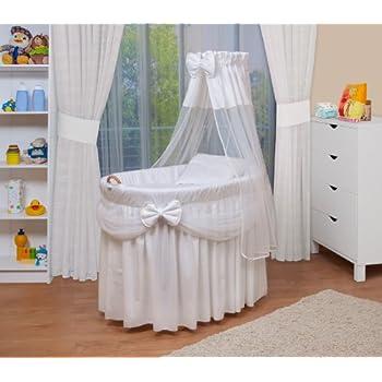 berceau b b en osier complet avec textile rose retombant b b s pu riculture. Black Bedroom Furniture Sets. Home Design Ideas