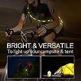 Morpilot Portable 5ft LED Strip Light Rope with 4400 Power Bank Lantern Waterproof Used in Light Rope Mode and Lantern Mode for Camping Hiking Emergencies Garage Night Closet Lighting etc