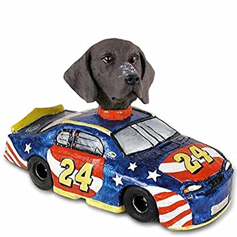 German Short Haired Pointer Race Car Doogie Collectable Figurine by