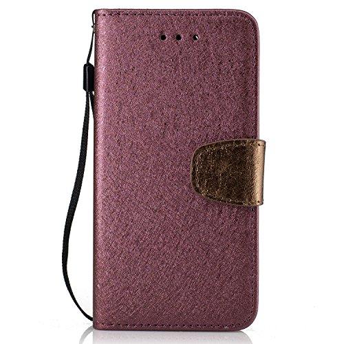 Custodia iPhone 6 6S,Cozy Hut Cover in Pelle,[Carta Fessura] [Flip Stand] [Folio Libro] [Wallet] [Chiusura Magnetica] [Pellicole Protettive] per iPhone 6 6S Custodia, Pelle. Protettiva case / cover Ul vino rosso