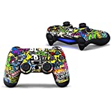 GADGETS WRAP Printed -CO- PS4 Controller Designer Skin For Sony PlayStation 4 , PS4 Slim , Ps4 Pro DualShock Remote Wireless Controller (set Of Two Controllers Skin) - Bomb (Mulyicolor)