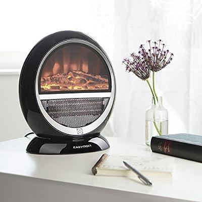 Heizstrahler Kamin-Optik | elektrischer Kamin | Ofen | 1500W | schwarz | echte Flammen-Optik | Schwenkfunktion von EASYmaxx bei Heizstrahler Onlineshop