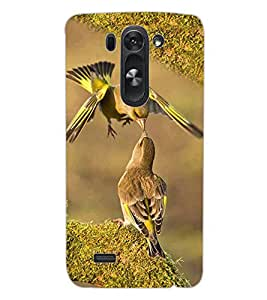 ColourCraft Love Birds Design Back Case Cover for LG G3 S
