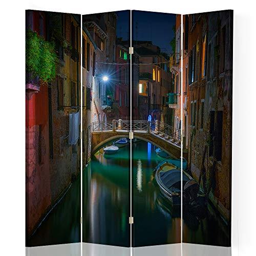 Feeby Biombo Decorativo Venecia 4 Paneles 360° Arquitectura Paisaje Multi 145x175 cm