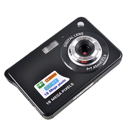 PowerLead Appareil photo numérique TFT LCD HD de 2,7 pouces (noir)