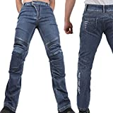 King Kerosin Pants Speedskinny Cordura Jeans Super Stone Blue-W28-L32