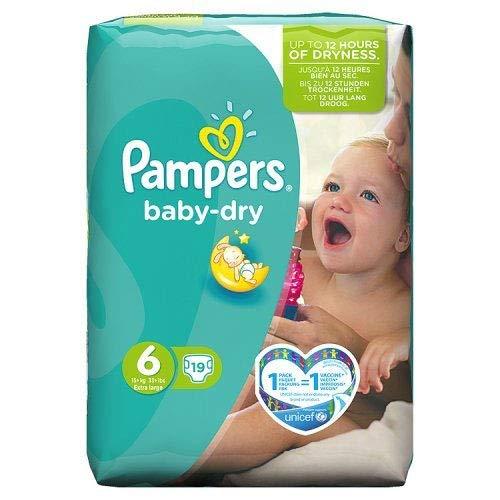 Pampers Baby Dry Windeln Carry Pack-Größe 6(Extra Groß), 19, Windeln