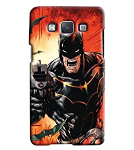 Blue Throat Batman In Action Printed Back Cover For Samsung Galaxy E7