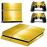 DOTBUY PS4 Skin Aufkleber Sticker Design Folie schützende Haut Schale für Sony Playstation 4 Konsole und 2 Dualshock Controller (Gold & White)