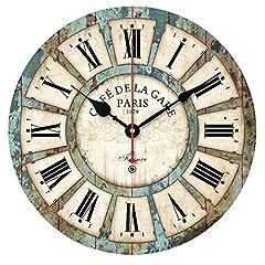 Idea Regalo - Alicemall Vintage Francese Adesivo Orologio da Parete in Legno in Stile di Toscana Ottimo Disegno (Stile Cinque)