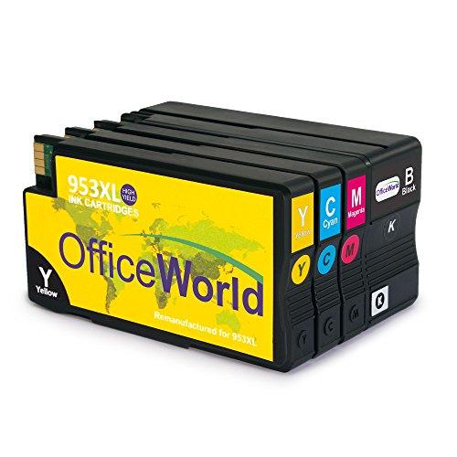 Preisvergleich Produktbild OfficeWorld Ersatz für HP 953XL Druckerpatronen Hohe Kapazität Kompatibel mit HP Officejet Pro 7740 8210 8218 8710 8715 8718 8719 8720 8725 8730 8740