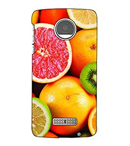 Fuson Designer Back Case Cover for Motorola Moto Z :: Motorola Moto Z Droid in USA (Fresh Oranges & Lichy Theme)