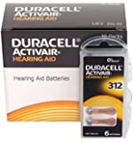 Duracell Easytab DA 312 - für alle Hörgeräte mit Batterietyp 312 10 x 6 Stück