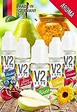 V2 Vape Set Waldlust AROMA/KONZENTRAT hochdosiertes Premium Lebensmittel-Aroma zum selber mischen von E-Liquid/Liquid-Base für E-Zigarette und E-Shisha 5x10ml 0mg nikotinfrei
