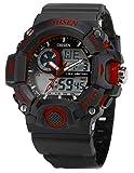 EASTPOLE Dual LCD Anzeige Herren Armbanduhr Quarzuhr mit Armband aus Silikon Sport Uhr OHS219