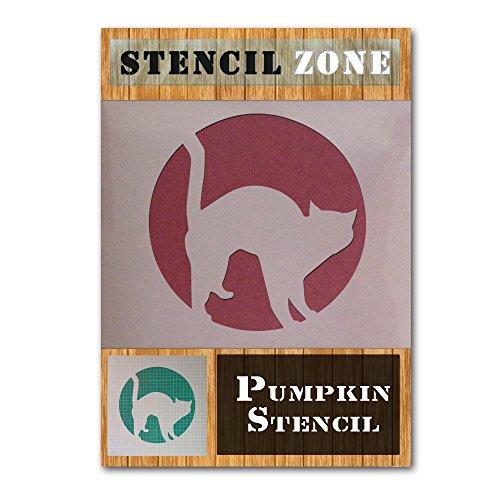 (Katze Halloween Mylar Gemälde Kürbis Art Wand Schablone Vier A5 Size Stencil - XSmall)