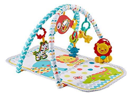 FXC14 Fisher-Price Tapis d/éveil des animaux 2-en-1 pour b/éb/é d/ès la naissance avec arche r/éversible et jouets amovibles