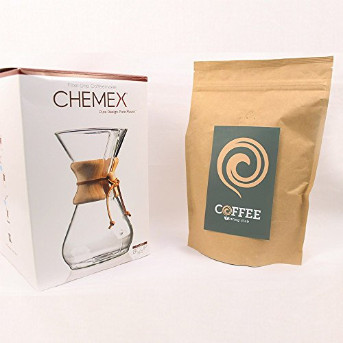 Chemex-6-8-Wood-Neck-Coffee-Maker-and-Coffee-of-the-Month
