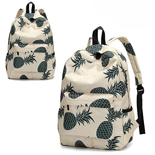 Frischer Stil Frauen Rucksäcke Ananas Drucken Bookbags Female Reiserucksack Reise Rucksack Backpack C