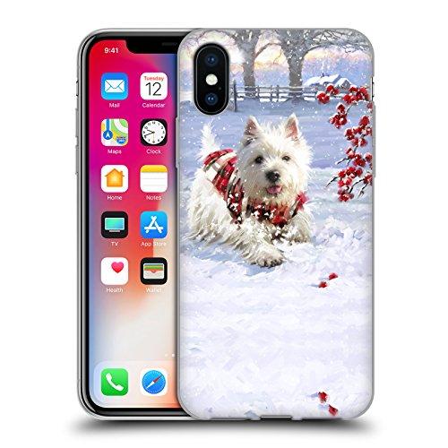 Ufficiale The Macneil Studio Cucciolo E Palla Animali Di Natale Cover Morbida In Gel Per Apple iPhone 6 Plus / 6s Plus Westie Fun