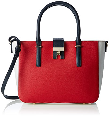 Tommy Hilfiger - Th Heritage Tote Cb, Borse Tote Donna Bianco (Corporate)