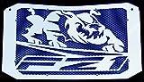 Heizkörperabdeckung/Heizungsgitter, 1000 FZ1 und FZ1 Fazer 2006 >2015, Design Bulldogge, Blau