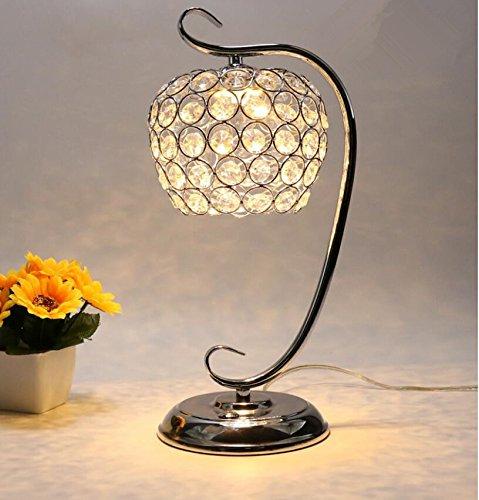 YU-K Lámpara de mesa de cristal de lámpara de mesilla dormitorio simple...
