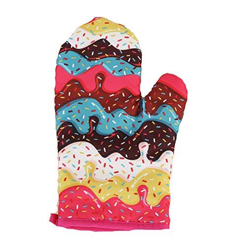YIWAN Donut Isolation Anti-Verbrühungs-Mikrowelle hochtemperaturbeständige Handschuhe 3 Doppel 03 26cmGeeignet für Küche Kochen Backen Grill -