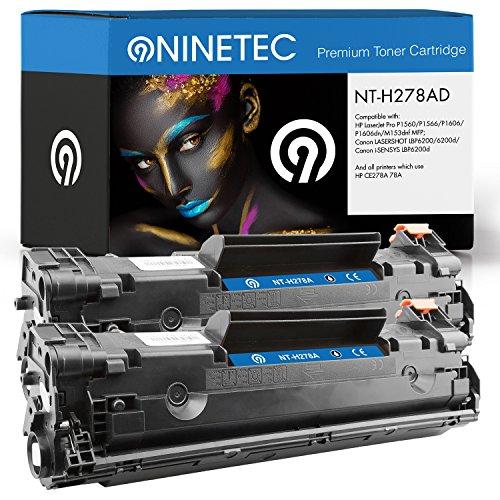 Doppelpack 2X Original NINETEC NT-H278AD Toner-Kartuschen Black Kompatibel zu HP CE278A 78A