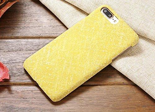 EKINHUI Case Cover IPhone 7 Plus Fall-Abdeckung, Leinenbeschaffenheits-Muster-harte schützende Abdeckung für IPhone 7 Plus ( Color : 7 , Size : IPhone 7 Plus ) 6