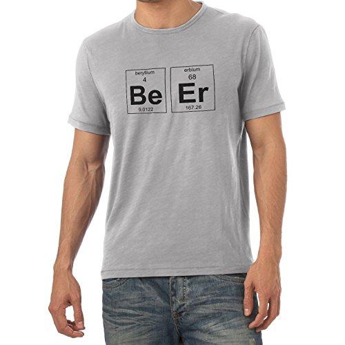TEXLAB - Beryllium and Erbium = Beer - Herren T-Shirt Grau Meliert