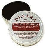 DELARA Intensive Lederpflege, schwarz, 75 ml - Imprägniert und schützt Leder sehr wirksam Rezeptur mit hochwertigem Kokosöl und Bienenwachs - Made in Germany