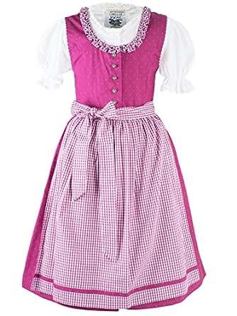 S/ü/ßes Kinderdirndl pink Franzi Set 3-tlg mit Bluse