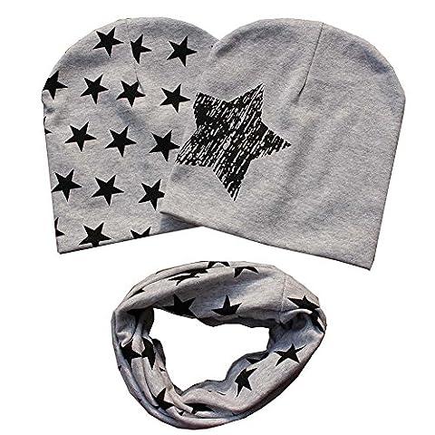 Bestanx Mode Baby Mütze O-Ring Schal Jungen Mädchen Kleinkinder Schal Kind Schal Hüte Mützen (Kleinkind-jungen Set)