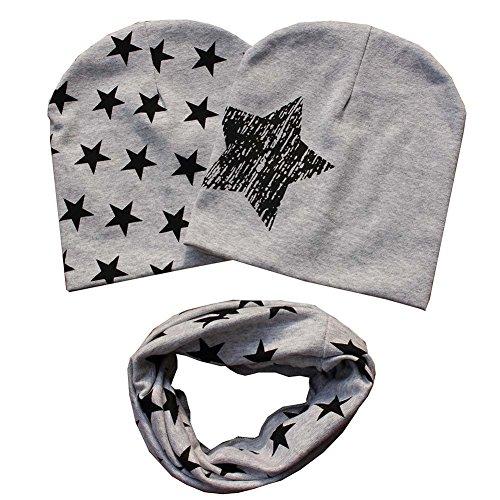 Patgoal Baby Mütze O-Ring Schal Jungen Mädchen Kleinkinder Schal Kind Schal Hüte Mützen (Mädchen Schals)