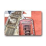 """DOUBEE London-Zerbino antiscivolo in gomma auto Mat-Zerbino per interni/esterni, 60 cm X 40 cm, Tessuto, E, 23.6""""x15.7"""""""