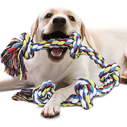 VIEWLON Hundespielzeug Seil für Starke große Hunde, Zerrspielzeug Hund Robuste Kauspielzeug 5 - Große Seil Hundespielzeug Hunde