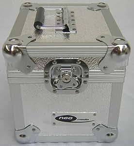 """Mallette de transport aluminium-valise de rangement pour lP-dJ style 100 x 18 cm 7 """"/ vinyl-lPs-argent"""