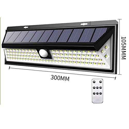 ZGF Solarlampen für außen Solarleuchte Infrarot Bewegungsmelder, 90 LED, 3 Modi IP65 Wasserdichte Einstellbar Solarlicht Wandleuchte mit Fernbedienung für, Garten, Patio, Zaun 1 Stück -