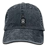 Fashion Home NavyLife Unisex Clock Tower Washed Cotton Denim Baseball Cap Vintage Adjustable Dad Hat for Men Women Navy