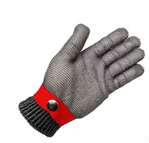 KYCD Sicherheit Schnittschutz BeWeiß Stab Beständig Edelstahl Metallgewebe Rote Handschuh Größe High Performance Level 5