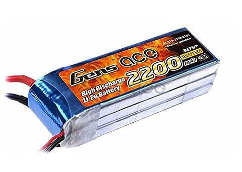 Gens ace B-25C-2200-3S1P Lithium Polymère 2200mAh 11.1V batterie rechargeable - batteries rechargeables (Lithium Polymère (LiPo), 2200 mAh, Jouet, 11,1 V, Multicolore, DJI