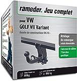 Rameder Attelage rotule démontable pour VW Golf VII Variant + Faisceau 7 Broches...