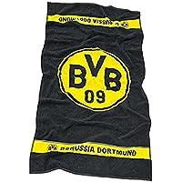 Serviette de bains Borussia Dortmund avec le logo