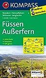 Füssen, Außerfern: Wander-, Rad-, Skitouren- und Langlaufkarte. Mit Panorama. GPS-genau. 1:50.000 -