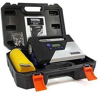 TireTek Luftpumpe Elektrisch Autoreifen Pumpe I tragbarer Druckluft Mini Kompressor Auto Luftpumpe Fahrradpumpe I Mobiler Kompressor für Fahrrad Reifen Aufpumpen Luftkompressor Auto Kompressor 12V