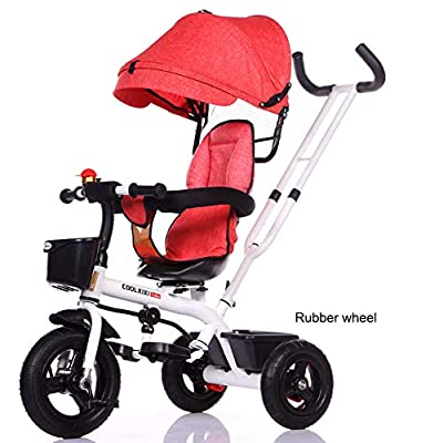 JYY Tricycle for kids age 1 2 3 4, Trike Buggy Stroller with Reversible Seat,C1-105 * 56 * 45cm
