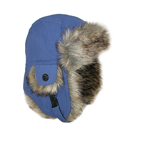 b8ad7d38f Jeanne Simmons Toddler Trapper Hat with Faux Fur and Chin Strap, Navy