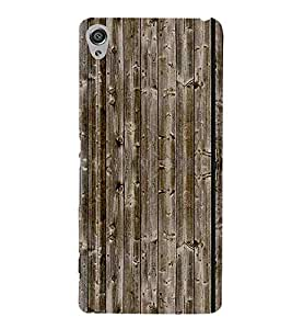 For Sony Xperia XA :: Sony Xperia XA Dual brown wood pattern ( brown wood pattern, wood pattern, pattern, wood board ) Printed Designer Back Case Cover By CHAPLOOS