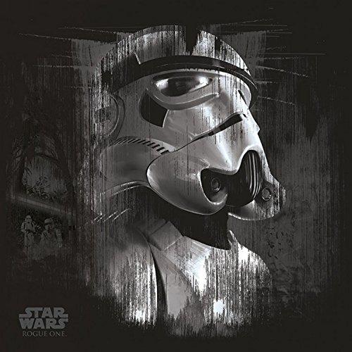 Star Wars - Rogue One, Stormtrooper Black Cuadro, Lienzo Montado Sobre Bastidor (40 x 40cm)